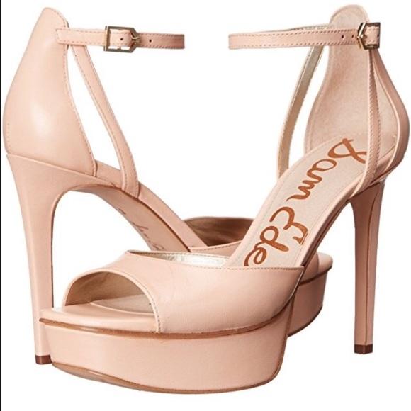 34980d33985478 SALE 🇺🇸♥ Sam Edelman Nude Platform Sandals 🤗🔥