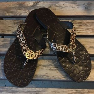 Tory Burch Shoes - Tory Burch Thora leopard sandal size 7