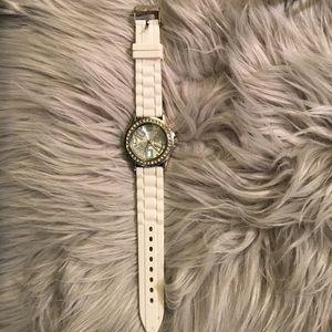 Silver & diamonds watch