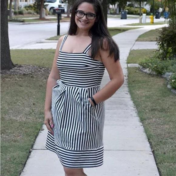 33d92ffc41e Brixon Ivy Stitch Fix Striped Levi Ponte Dress