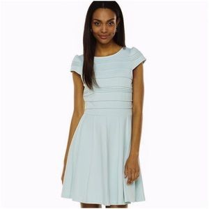NWT Elle Pintuck Fit and Flare Dress Mint Green
