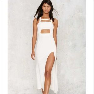 Nasty Gal white cut out maxi dress
