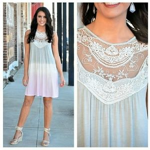 Dresses & Skirts - Tie-Dye Lace Dress
