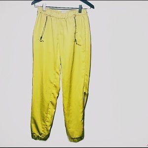 Anthropologie Pants - Anthropologie yellow silk pants