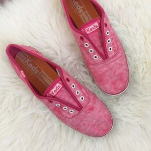 Faded Red Slip-On Keds