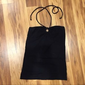 Ocean Drive Tops - Black tie halter top