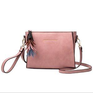 Melie Bianco Handbags - Melie Bianco Pink Byron Quote Crossbody & Tassels
