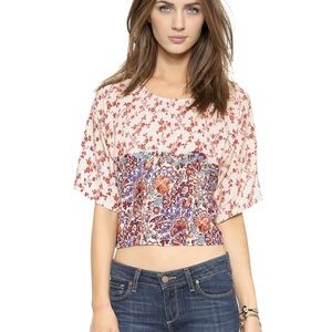House of Harlow 1960 Tops - HOUSE of HARLOW Ava Hippie Floral Loose Blouse Top