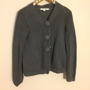 Boden Sweaters - Boden grey chunky knit cardigan sweater size 10