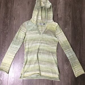 Prana Sweaters - PrAna green hooded sweater size S