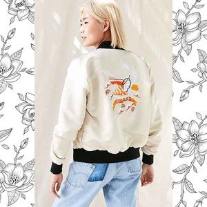 Urban Outfitters Embroidered Bomber Jacket Medium