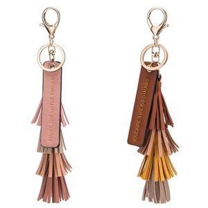 Melie Bianco Accessories - Melie Bianco Four Color Tassel Quote Key Ring