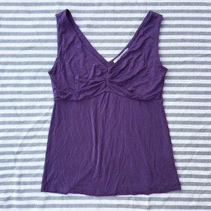 Boden soft jersey purple sleeveless top 8