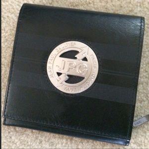 Jean Paul Gaultier Handbags - Vintage Black Jean Paul Gaultier Wallet JPG