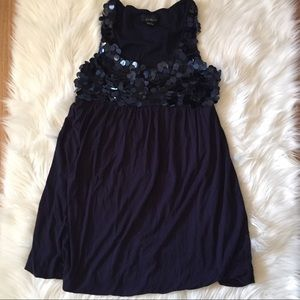 Forever 21 Navy Sequin Bubble Mini Dress Large