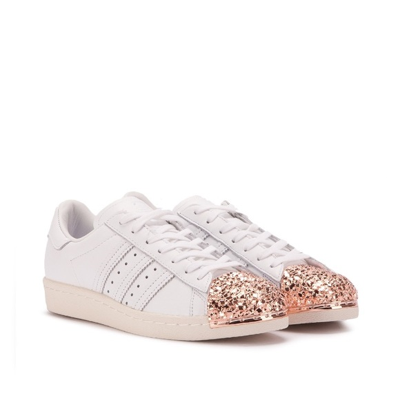 4b76adb90f Adidas Superstar Rose Gold Metal Toe
