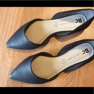 BC Footwear Shoes - BC Society - Lizard' d'Orsay Pointy Toe Flat