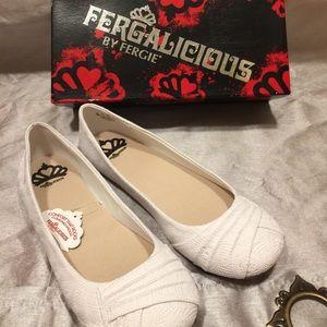 Fergalicious Shoes - Fergalicous White Flats
