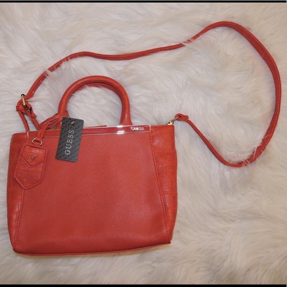 a2165c38e77 Guess Bags   Orange Purse   Poshmark