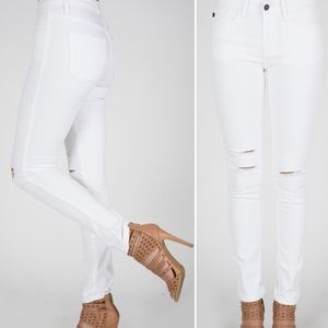 Denim - Arrived!!! white distressed jeans