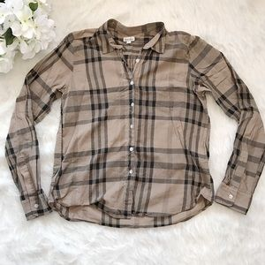 Steven Alan Tops - Steven Alan Brown Plaid Button Up