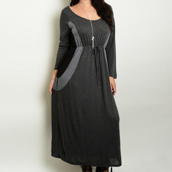 Dresses Clearance Plus Size Soft Knit Maxi Dress Nwt Poshmark