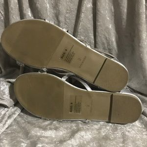 70717e5225f1 jcpenney Shoes - Mixit silver sandals size 9