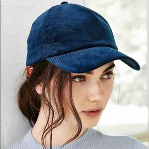 Courderoy Blue Baseball Hat