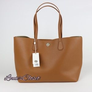 Tory Burch Perry Tote - Bark / Light Gold