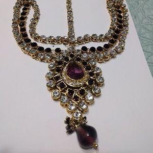 2/$60 Purple and Gold Bridal Headpiece Jewelry