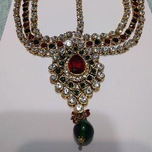 2/$60 Red&Green Bridal Headpiece Jewelry