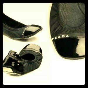 Black Authentic PRADA Flats Ballerina