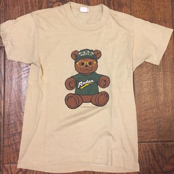 2e7153ab Vintage 80s Mash Radar Teddy Bear shirt. M_58f707b9ea3f36c64901ead0