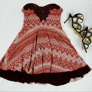 [Free People] HP Strapless Twinkle & Twirl Dress