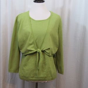 Worthington Tops - Worthington Green Faux Layered Look Top XL