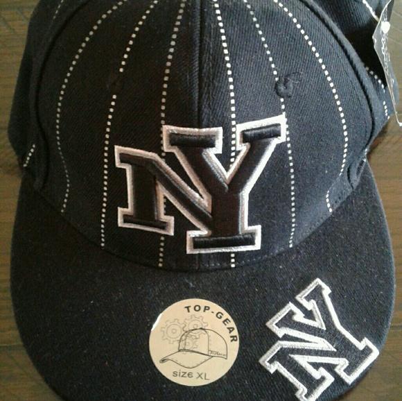 f7397e627f420 NY Yankees Pinstripe Snapback Hat New w Tag XL