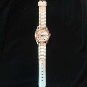 Geneva Platinum Accessories - Rose Gold Watch Geneva like new white jelly band