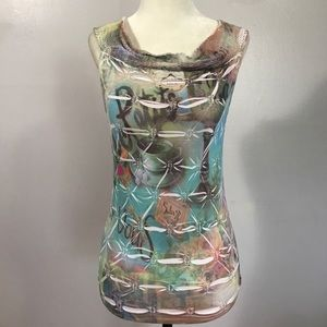 Boho Chic Patterned Stretch Top- O/S