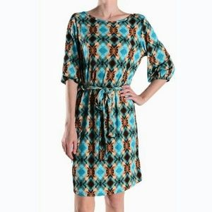Auditions Dresses & Skirts - Mint & Brown Shift Dress