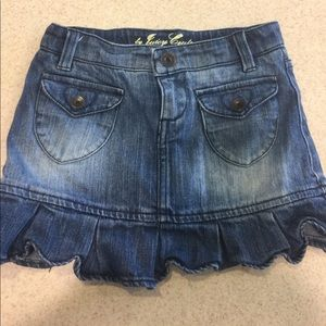 Bird by Juicy Couture Other - Girls juicy couture jean skirt skort short 6