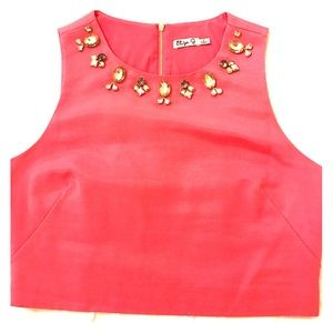 Eliza J Tops - Eliza J Embellished Crop Top