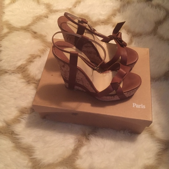 d94a767035b Christian Louboutin Miss Cristo Wedge Sandals