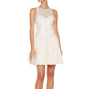 Marchesa Dresses & Skirts - Marchesa Notte Embroidered Organza Mini Dress