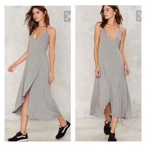 Nasty Gal Dresses & Skirts - Nasty gal grey jersey maxi dress - small