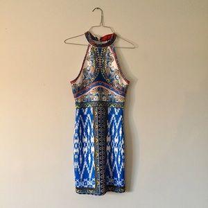 AKIRA Dresses & Skirts - Gorgeous Akira abstract halter body con dress