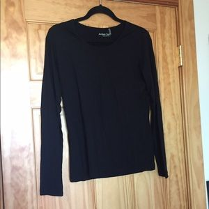 Amber Sun black scoop neck long sleeve top