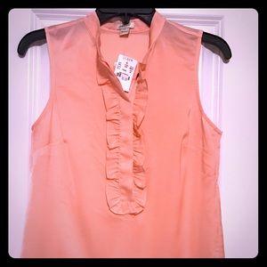Sleeveless J Crew blouse
