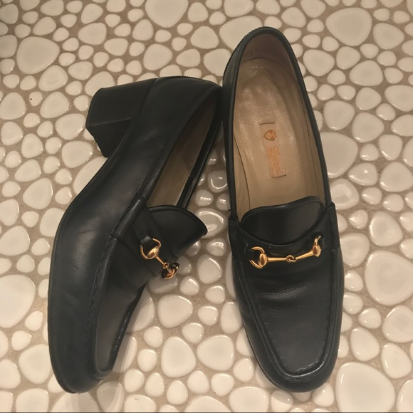 3eef9008b30 Gucci Shoes - Vintage Navy Blue Gucci Horsebit Loafers - amazing