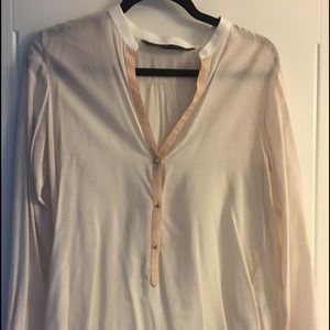 Zara ivory with pink blouse