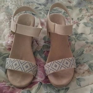 Shoes - Used tan wedge sandals